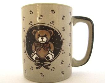 Otagiri TEDDY BEAR MUG Gold Foil Stickers