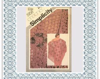 Simplicity 5158 (1981) Misses' crochet shawl - Vintage Uncut Sewing Pattern