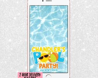 Pool Party Snapchat Filter - Pool Snap Chat GeoFilter - Pool Party Filter - Pool Snapchat Filter - Pool Party Geofilter - Summer Party Snap