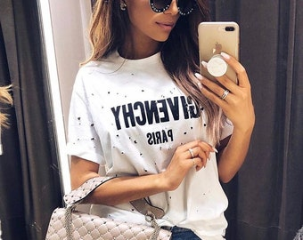 Givenchy T shirt Tee Givenchy Paris Design Unisex Best Givenchy Quality and Soft Material