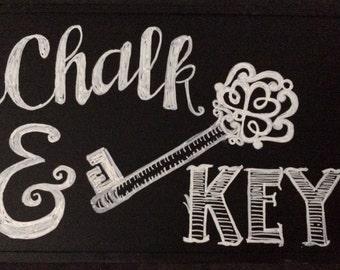 Hand Drawn Custom Chalkboard Sign