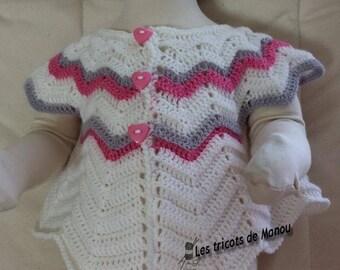 A small petal or Butterfly crochet waistcoat