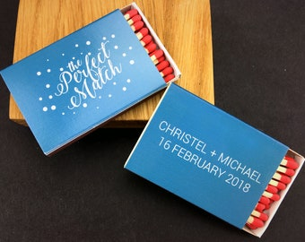Set of 50 The Perfect Match Matchboxes * Personalized Matches * Wedding Matches * Custom Matches * Personalized Matchbox * BEST Matches