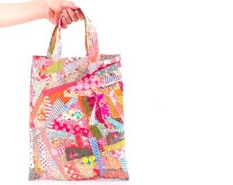 Upcycle tote  , Hippie handbag , crazy patchwork , children tote , gyspy bag , summer bag , boho bag , Patchwork Tote Bag , Small Handbag