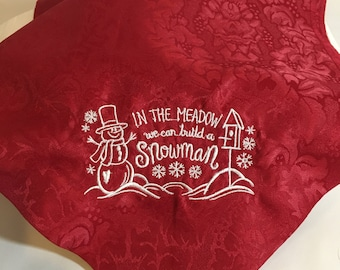 In the Meadow We Can Build a Snowman Table Runner
