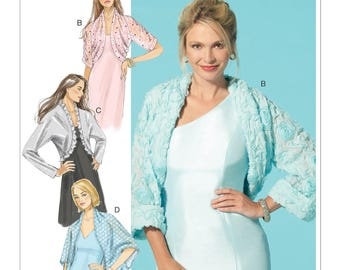 Sewing Pattern for Misses' Shrugs-Four Styles, McCall's Pattern 7289, Prom Dress Shrug, Special Occasion, David Tutera Design