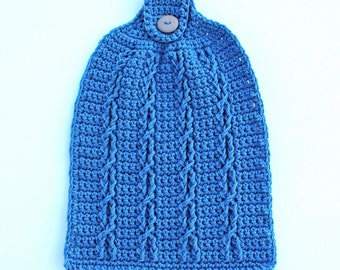 crochet towel pattern - Duchess Cabled Towel - crochet pattern - crochet cable pattern