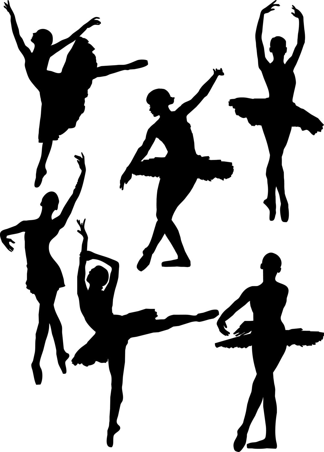 dancing ballerina figures bundle clipart ballerina graphic art rh etsystudio com animated dancing figures clip art Cheer Clip Art