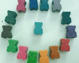 6 teddy bear crayons. Free p&p and buy 2 packs get one pack free
