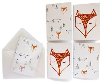 fox mini cards + envelopes
