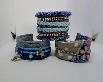 Denim Cuff Bracelet