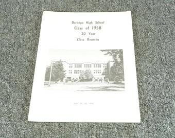 Durango High School Class Of 1958 20 Year Class Reunion C. 1978
