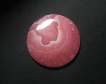 Natural Rhodochrosite Gemstone, Rhodochrosite Cabochon Round ,Pink Rhodochrosite,Size 23 mm,Loose Cabochon Rhodochrosite,ET 4261