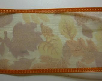 Fall Leaves Wired Edge Ribbon 2 Yards