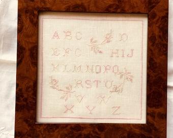 Rose Blush Alphabet Sampler chart pdf download