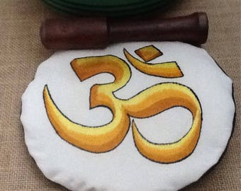 Singing bowl cushion/pillow - Om symbold cushion - altar - sacred space