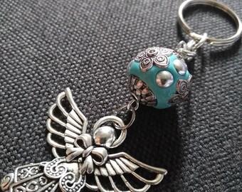 Angel Keychain, Guardian Angel Keychain, Keychain, Blue Keychain, Teacher Gift, Birthday Gift