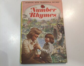 Vintage Retro 1970s 70s Ladybird Number Rhymes childrens book 1976