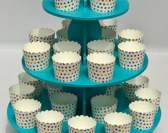 3 Tier Blue Cupcake Stand/Dessert Stand