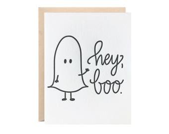Hey Boo Greeting Card