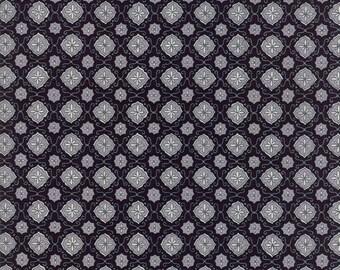 Homegrown Fabric - Moda Fabric - Half Yard - Deb Strain Novelty Farmhouse Tile Gray Grey on Black Farmhouse Quilt Fabric 19825 16