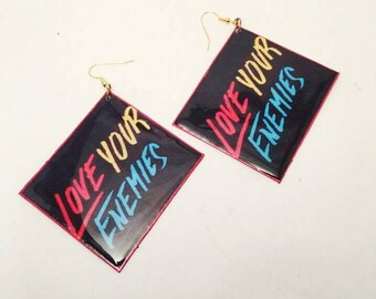 Handmade Accessories, Handmade Earrings, Funky Earrings, Love Earrings, Oversized Earrings, Unique Earrings, Statement Earrings