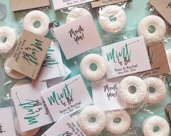 30 Wedding Favors, Mint to Be Wedding Favors, Mint Favors, Wedding Favor Mints, Personalized Wedding Favor, Rustic Wedding Favors