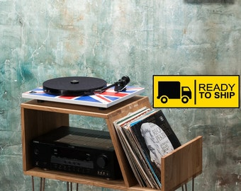 vinyl record furniture. Vinyl Record Storage, Player Cabinet, Media Console, Stand, Hairpin Furniture A