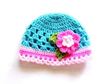Baby Girl Hat Crochet Pattern, Crochet Girls Hat Pattern, Crochet Hat Pattern, Toddler Girl Hat Pattern, Newborn Hat Pattern, Newborn-Child