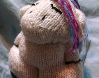 Tiny Unicorn Knit Sock Knitting Machine Stuffie