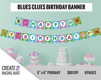Blues Clues Birthday Pendant Pennant Banner