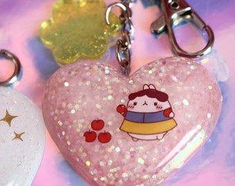 Molang Snow White Key Chain