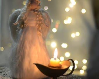 Needle felted angel Tree topper ANGEL eTutorial pattern pdf ** Waldorf Inspired ** Christmas craft ** fleece angel