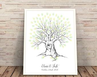 wedding guest book alternative, wedding tree, finger print tree  guestbook ideas, Wedding Trees, finger print tree, wedding guest book art
