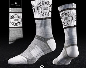 Fortified Nation Strideline Crew Socks - Grey