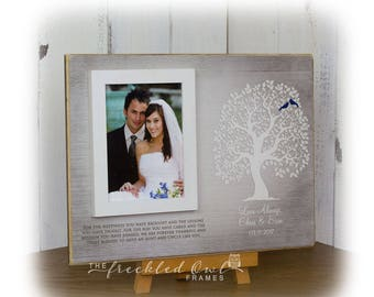 Thank You Gift for Aunt and Uncle, Aunt Gift, Uncle Gift, Personalized Tree for Aunt and Uncle, Aunt and Uncle Picture Frame, Gift for 12X16