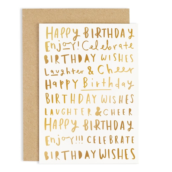 Happy birthday words birthday card birthday words card like this item bookmarktalkfo Image collections