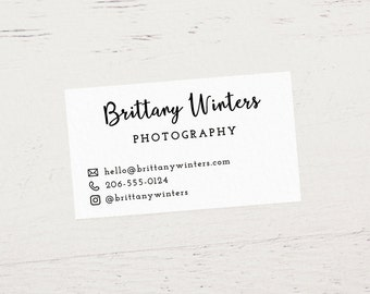 Custom Printed Business Cards, Etsy Business Cards, Printed Business Cards, Etsy Shop Cards, Calling Cards - Design #02 (Satin White)