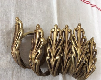 Antique French Gilt Brass Curtain Rings 1920s set of seven