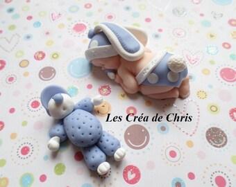 "polymer clay baby mixed ""rabbit"" theme."