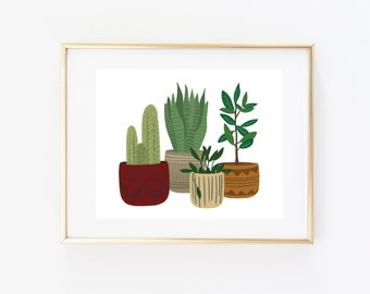 Art Print - Potted Plants