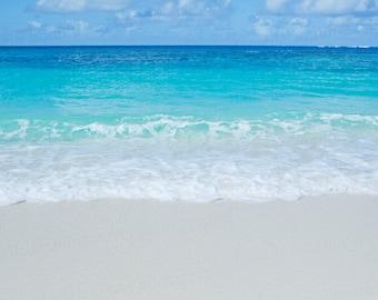 Anguilla Beach Photography, Shoal Bay Caribbean, Ocean Water Art, Caribbean Travel Photography, Turquoise Water Art, 8x10 Photo Print