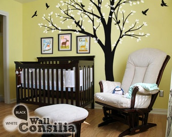 """Photo Tree Wall Decal -  Frame Hanging Tree Wall Sticker - Corner Tree decal - Large: approx 93"""" x 100"""" - KC018"""