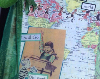 Tell the World composition book journal