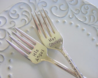 Wedding Forks His Angel Her Cowboy Forks