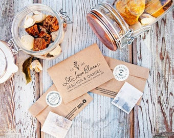 Wedding Seed Favor Packets - Let Love Bloom, Seeds Included - Wildflower or Lavender - 30 Packets or more