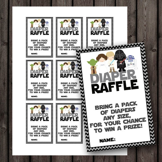 Attractive Starwars Baby Shower Diaper Raffle Tickets, Star Wars Baby Shower, Diaper  Raffle Baby Shower Game, Instant Download At Purchase