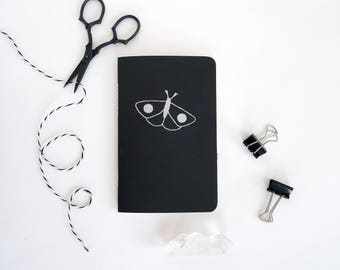 Moth Jotter Notebook / Witchy Pocket Journal / Plain or Lined Paper