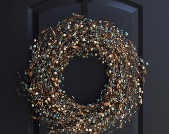 Blue Berry Wreath - Berry Wreath - Christmas Wreath - Winter Wreath - Holiday Wreath - Winter Berry Wreath - Christmas Berry Wreath - Wreath