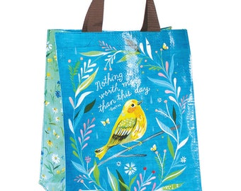 Sweet Bird Reusable Tote Bag | Small Grocery Bag